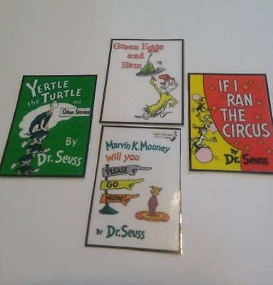 Seuss Book #2  Cupcake Toppers  set of 4 designs=6 each for 24-Handmade Dr