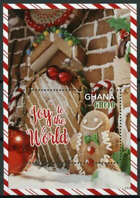 Ghana 2017 MNH Christmas Joy of World Gingerbread Man House 1v S/S Stamps