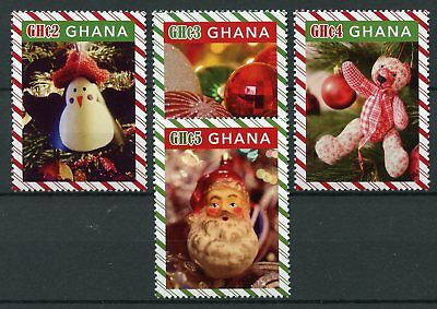 Ghana 2017 MNH Christmas Definitives Trees Decorations 4v Set Stamps