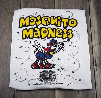 Mosquito Madness XL Extra Large Minnesota Lottery Screen Stars Vintage T-Shirt