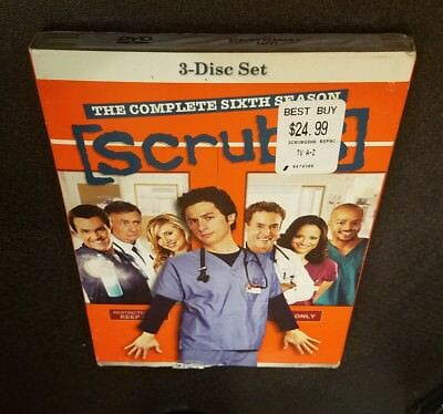 Scrubs: The Complete Sixth Season (DVD, 2007, 3-Disc Set) 6 tv show series NEW