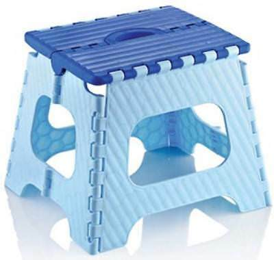 Small Foldable Folding Step Stool Home Kitchen Carry Handle Multi Purpose Stool