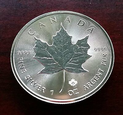 5 Dollar Maple Leaf 2015  Kanada  Canada ; Silbermünze 1oz ; Top-Zustand !!!