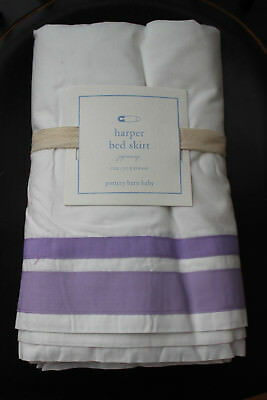 NWT Pottery Barn Baby Kids HARPER Crib Skirt Lavender Purple Cotton Retail $59