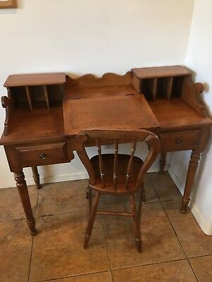 Tell City Vintage Writing Overseer's Desk w Matching Chair - Perfect Condition!