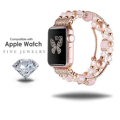 Compatible with Apple Watch Women's 38mm 42mm Jewelry Band Beads Strap Bracelet