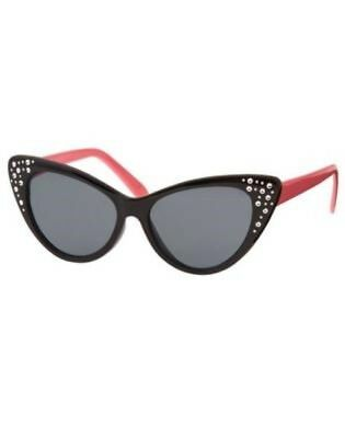 GYMBOREE KITTY IN PINK BLACK CATS EYE SUNGLASSES w/ GEMS 4 5 6 7 8 NWT