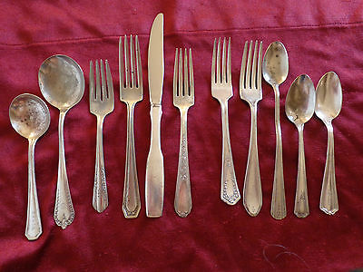 11 Pieces of Miscellaneous Silver-Plated Flatware (#0317).