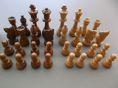 Wooden Chess Set In Wood Box
