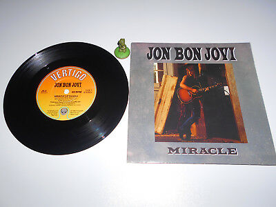 Bon Jovi - Miracle (1990) Vinyl 7` inch Single Vg +