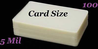 Card Size Laminating Laminator Pouches Sheets 100 pk 5 Mil 2-3/4 x 4-1/2  Sleeve