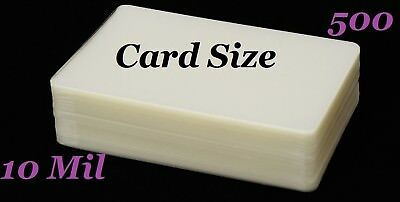Card Size Laminating Pouches Sheets 500 pk 10 Mil 2-3/4 x 4-1/2 Sleeve's