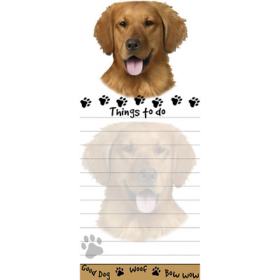 Golden Retriever Magnetic Post It Dog Breed Stationery Notepad