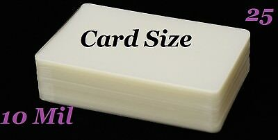 Card Size Laminating Laminator Pouches Sheets 25 pk 10 Mil 2-3/4 x 4-1/2 Sleeve