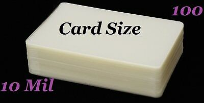 Card Size Laminating Laminator Pouches Card 100 pk 10 Mil 2-3/4 x 4-1/2 Sleeve