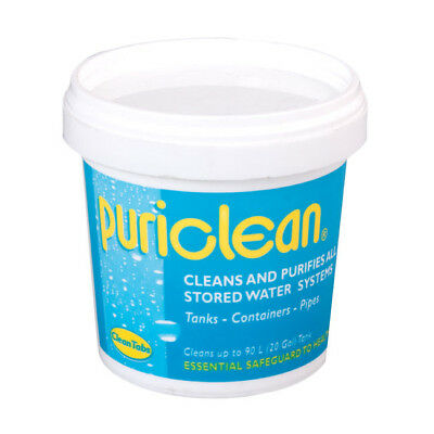 Puriclean Caravan Water Tank System Cleaner Purifier 100g. Sterilises and clean