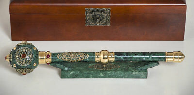 Exclusive marble Mace Getman .Mace for a real man,ancient Ukrainian weapon,gift