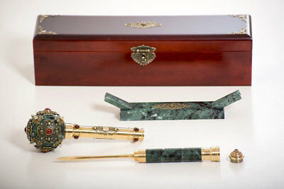 Exclusive marble Mace with a stile .Mace for a real man,ancient Ukrainian weapon