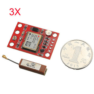 3Pcs GYNEO6MV2 GPS Module NEO-6M GY-NEO6MV2 Board With Antenna For Arduino