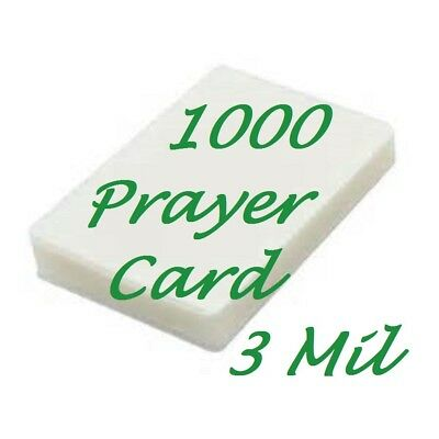 Prayer Card Laminating Pouches Sheets 1000 3 Mil 2-3/4 x 4-1/2 Sleeve's Gloss