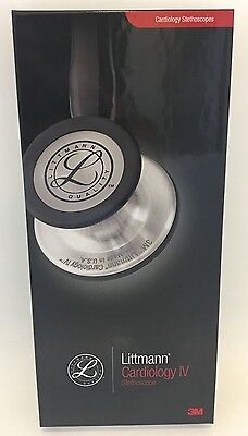 3M Littmann Cardiology IV Stethoscope Black Tube 27 in  *** NEW ***  6152