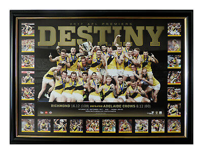 Richmond Tigers 2017 Afl Premiers Destiny Limited Edition Framed With Coa