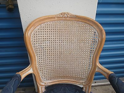 6 French Dining Captain Chairs Victorian Provincial Louis XVII ITALY Cane SIX