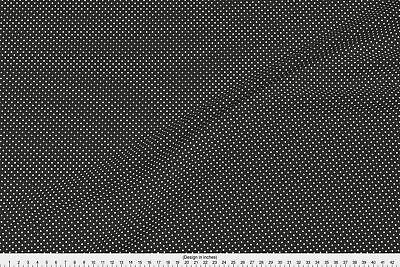 Dot Spot Pin Black Fabric Printed by Spoonflower BTY