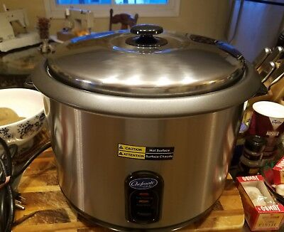 Chefmate By Globe Rice Cooker/Warmer 25 Cup Model RC-1 Brand New!!