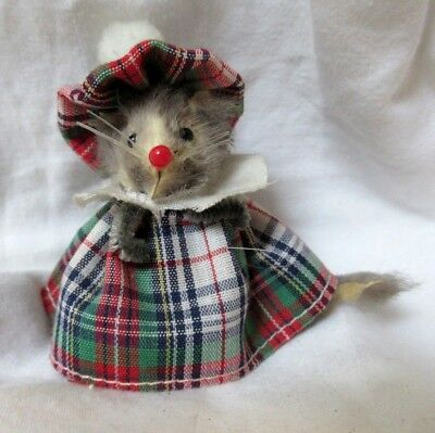"Vintage Original Fur Animals - Made in W. Germany -""Scottish"" Mouse (pre-owned)"