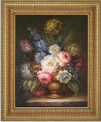 REDUCED Hand Painted Oil on Canvas Floral Art 12 x 16