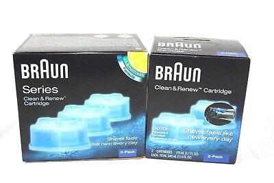 Braun CCR3 & CCR2 Clean And Renew System Cartridges Refills Shaver 3 Pack+2 Pack