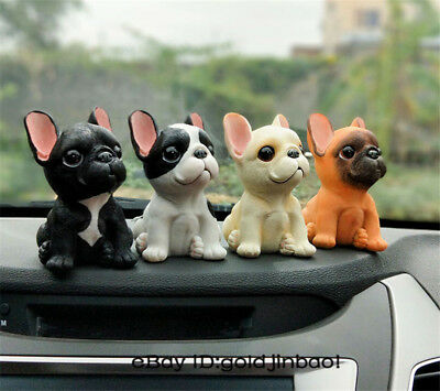 French Bulldogs Resin Model Dog Cartoon Creative Car Desk Decoration Small Toy