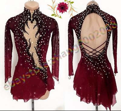 Ice Skating Dress.Competition Figure Skating.Gymnastics Acrobatics Dance Dress
