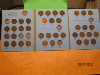 1858-1920-CANADA-LARGE-CENT-VERY-NEAR-COMPLETE-COLLECTION-(39 coins)