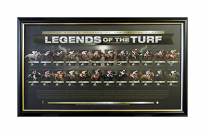 HORSE RACING LEGENDS OF THE TURF FRAMED Horse Racing Royalty LIMITED EDITION COA