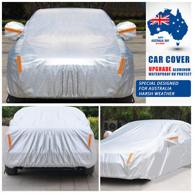 Aluminum Waterproof Double Thicker YXL Car Cover Rain Resistant UV Dust Scratch