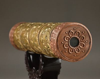 7.68 inch/Brass carved totem of kaleidoscope manual collection of old China