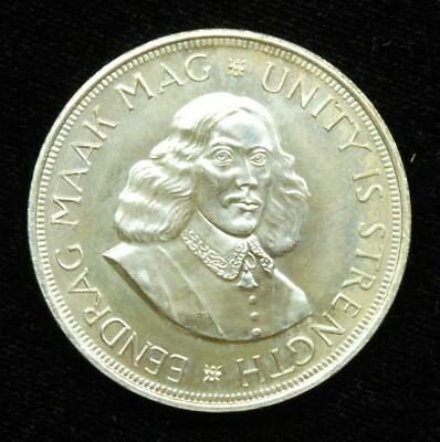 South Africa 50 Cents 1962 Coin; 50% Silver
