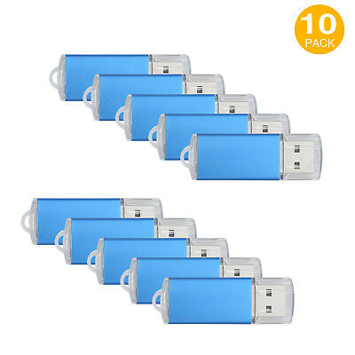 1-10Pack 1GB-64GB USB 2.0 Flash Drive Data Storage Rotate Thumb Pen Memory Stick