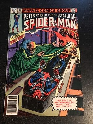 Spectacular Spider-Man#45 Awesome Condition 8.0(1980) Vulture ,Severin Art!!