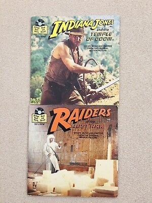 Indiana Jones 33 & 1/2 Read-Along Book and Record #'s 452 & 465 (lot of 2)