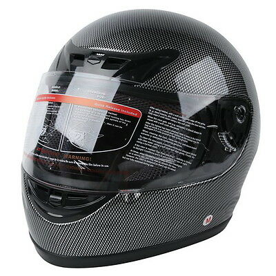 Motorcycle Carbon Fiber Flip Up Full Face Street Adult Helmet DOT S M L XL XXL