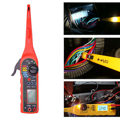 Screen Power Electric Circuit Tester Car Multimeter Lamp+Probe+Light 0-380Volt