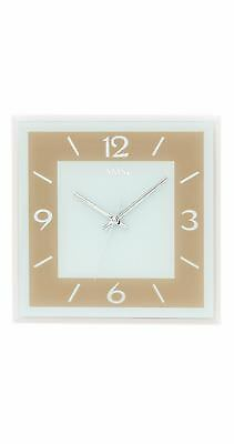 Modern wall clock with quartz movement from AMS AM W9574 NEW