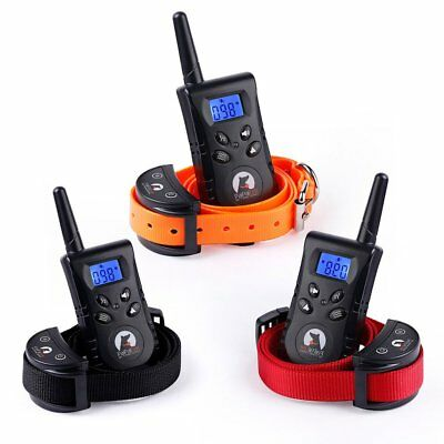 Rechargeable Dog Training Collar Remote Waterproof Electric No Shock E-Collar