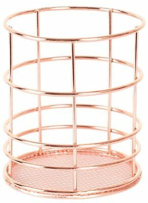 Bronze Metal Wire Pen Pencil Holder , Makeup Brush Cups Container , Wired Mesh