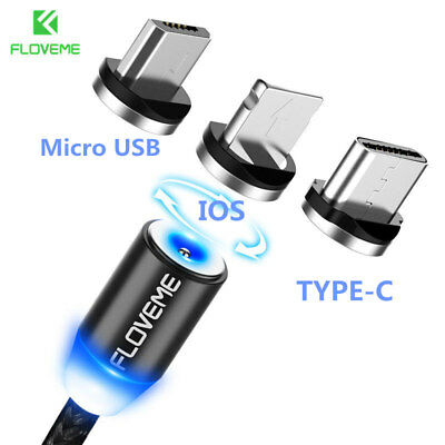 Linghtning USB type C Micro Cable Magnetic Adapter Charger For iPhone Android