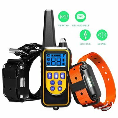Stop Barking 2600FT Remote Anti Bark Shock Dog Training Bark Collar Pet Trainer