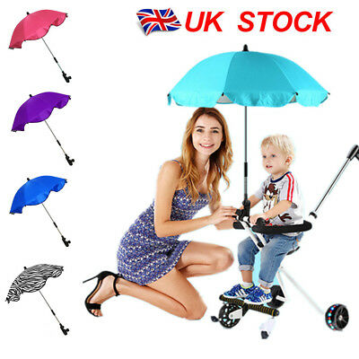 Baby sun UMBRELLA PARASOL buggy pushchair pram stroller shade canopy